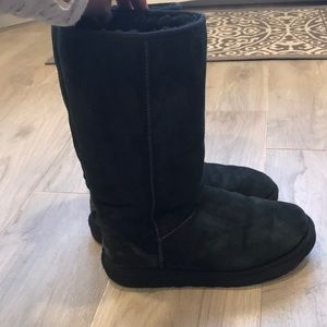 Tall black Ugg boots 100% authentic